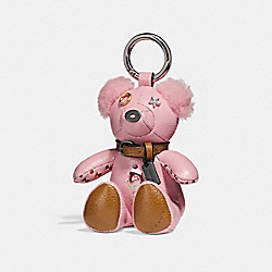 ICE CREAM SUNDAE BEAR BAG CHARM - f26574 - SILVER/BLUSH