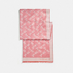 COACH F26587 - BICOLOR HORSE AND CARRIAGE OBLONG SCARF ROSE PETAL