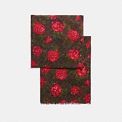 CAMO ROSE SIGNATURE OBLONG - f26591 - MAHOGANY/RED