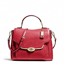 COACH F26624 Madison Leather Small Sadie Flap Satchel