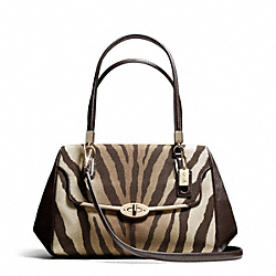 COACH F26634 Madison Zebra Print Small Madeline East/west Satchel