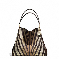 COACH F26636 Madison Zebra Print Small Phoebe Shoulder Bag