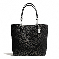 COACH F26639 - MADISON  CHENILLE OCELOT NORTH/SOUTH TOTE ONE-COLOR