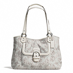 COACH F26726 Campbell Snake C Print Carryall SILVER/DOVE MULTICOLOR
