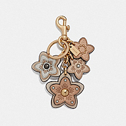 COACH F26790 Wildflower Mix Bag Charm ROSE GOLD/GOLD