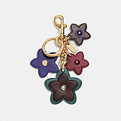 WILDFLOWER MIX BAG CHARM - F26790 - DARK TURQUOISE/GOLD