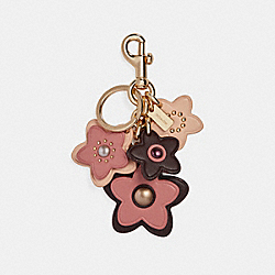 WILDFLOWER MIX BAG CHARM - f26790 - PINK MULTI/GOLD