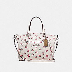 COACH F26792 - PRAIRIE SATCHEL WITH FLORAL BLOOM PRINT CHALK MULTI/SILVER