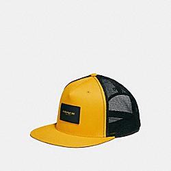 FLAT BRIM HAT - f26796 - GOLDENROD