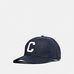 COACH F26813 Varsity C Cap RAW DENIM