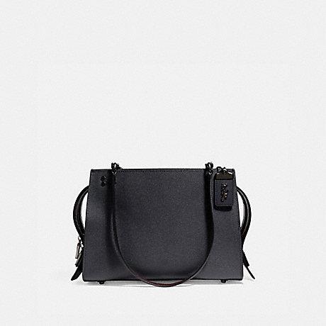 COACH F26829 ROGUE SHOULDER BAG MIDNIGHT NAVY/BLACK COPPER