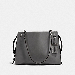 COACH F26829 Rogue Shoulder Bag HEATHER GREY/BLACK COPPER