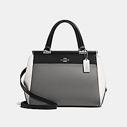 COACH F26831 Grace Bag In Colorblock HEATHER GREY/MULTI/SILVER