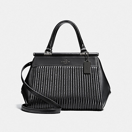 COACH F26833 GRACE BAG WITH QUILTING AND RIVETS DK/BLACK