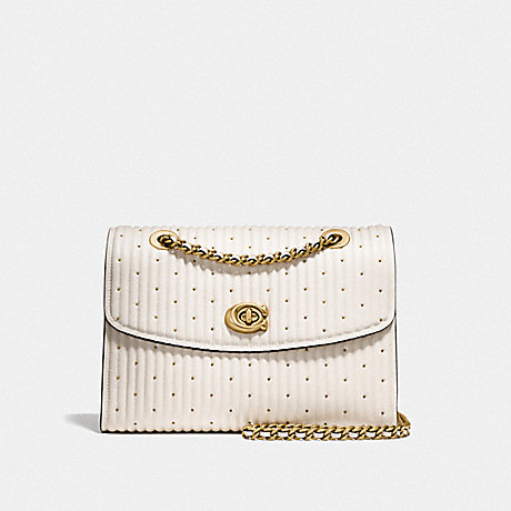 COACH F26850 PARKER WITH QUILTING AND RIVETS OL/CHALK