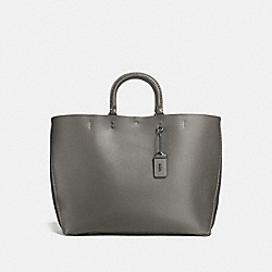 COACH F26886 - ROGUE TOTE HEATHER GREY/BLACK COPPER