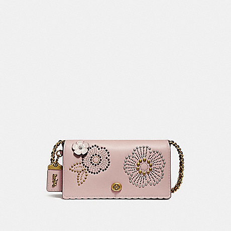 COACH F26892 DINKY WITH TEA ROSE RIVETS PEONY/OLD BRASS