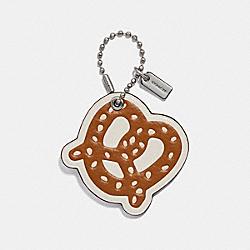 COACH F26902 Glitter Pretzel Bag Charm MULTI/SILVER
