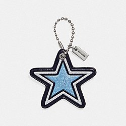 COACH F26903 Glitter Star Bag Charm MULTI/SILVER