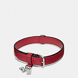COACH F26904 Large Pet Collar SILVER/RED