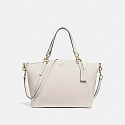 SMALL KELSEY SATCHEL - f26917 - CHALK/LIGHT GOLD