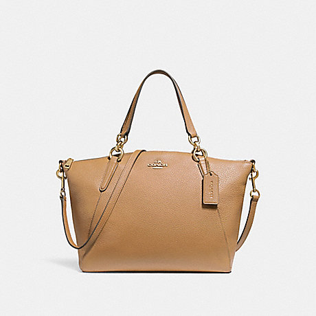 COACH f26917 SMALL KELSEY SATCHEL LIGHT SADDLE/LIGHT GOLD