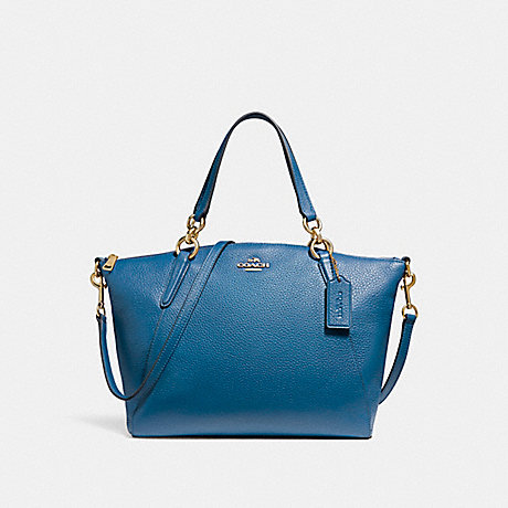 COACH f26917 SMALL KELSEY SATCHEL INK BLUE/LIGHT GOLD