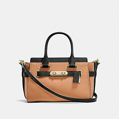 COACH f26949 COACH SWAGGER 27 IN COLORBLOCK APRICOT MULTI/LIGHT GOLD