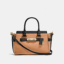 COACH SWAGGER 27 IN COLORBLOCK - f26949 - APRICOT MULTI/LIGHT GOLD