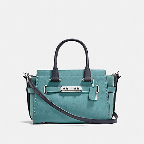 COACH F26949 COACH SWAGGER 27 IN COLORBLOCK MARINE-MULTICOLOR/SILVER