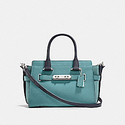 COACH SWAGGER 27 IN COLORBLOCK - f26949 - MARINE MULTICOLOR/SILVER