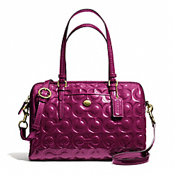 COACH F26962 - PEYTON OP ART EMBOSSED PATENT SATCHEL ONE-COLOR
