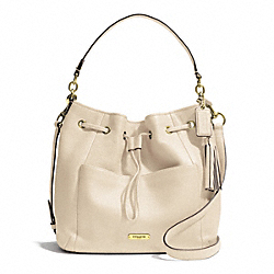 COACH F27003 - AVERY LEATHER DRAWSTRING BRASS/STONE