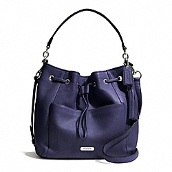 COACH F27003 Avery Leather Drawstring SILVER/INDIGO