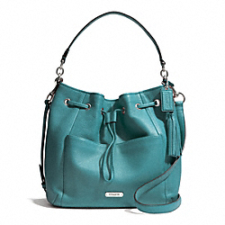 COACH F27003 - AVERY LEATHER DRAWSTRING SILVER/MINERAL