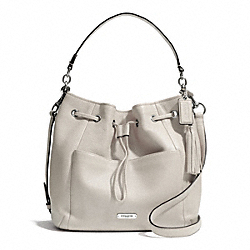 COACH F27003 - AVERY LEATHER DRAWSTRING SILVER/PEARL