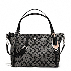 COACH F27020 - PEYTON SIGNATURE EAST/WEST CONVERTIBLE SHOULDER BAG SILVER/BLACK/WHITE/BLACK