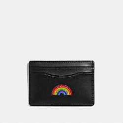 COACH F27037 Card Case With Rainbow MULTICOLOR 1/SILVER
