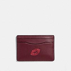 COACH F27038 Card Case With Lips MULTICOLOR 1/SILVER