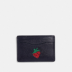 COACH F27039 - CARD CASE WITH STRAWBERRY MULTICOLOR 1/SILVER