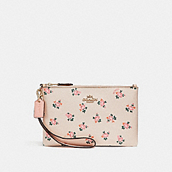 SMALL WRISTLET WITH FLORAL BLOOM PRINT - f27094 - BEECHWOOD FLORAL BLOOM/LIGHT GOLD
