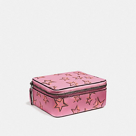 COACH F27118 ACCESSORY BOX WITH STARLIGHT PRINT BRIGHT PINK/DARK GUNMETAL
