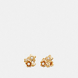 BLOOMING FLORA CLUSTER EARRINGS - f27171 - GOLD