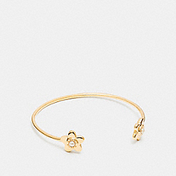 COACH F27172 Blooming Flora Cuff GOLD