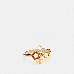 COACH F27175 Blooming Flora Cluster Ring GOLD