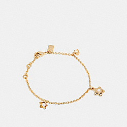 COACH F27176 - BLOOMING FLORA CHAIN BRACELET GOLD