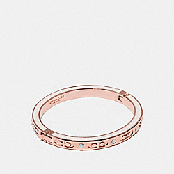 KISSING C HINGED BANGLE - f27177 - CHALK/ROSEGOLD