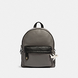 COACH F27212 Campus Backpack In Colorblock With Airplane SV/HEATHER GREY BLACK