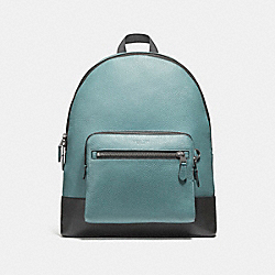 WEST BACKPACK IN COLORBLOCK - f27287 - SLATE/BLACK/BLACK ANTIQUE NICKEL