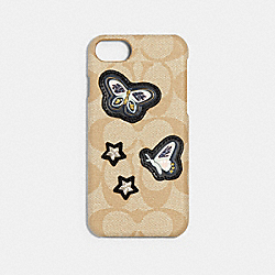 COACH F27333 - SIGNATURE IPHONE 7/X CASE WITH PRETTY PRAIRIE PATCHES IVORY/MULTICOLOR